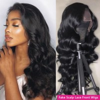 Beautyforever Body Wave Fake Scalp Lace Wigs With Baby Hair 13x4 and 13x6 Natural Hairline Human Hair Wigs 150% Density