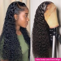 Beautyforever Curly Fake Scalp Wigs 13x4 or 13x6 Human Hair Lace Front Wigs With Baby Hair 150% Density