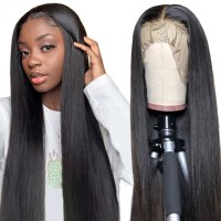Beautyforever 13x6 Transparent Lace Front Wigs Natural Hairline Straight Wave 180% Density Pre Plucked