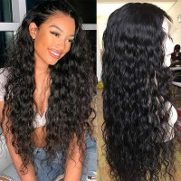 Beautyforever 150% Density Water Wave Pre-plucked 13x6 Human Hair Lace Front Wigs