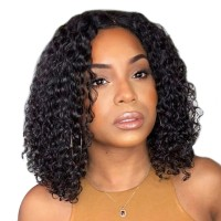 Beautyforever Best Bob 13x4 Lace Front Wigs Water Wave 150% Density Virgin Human Hair Can Be Dyed