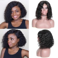 Beautyforever Best Bob Realistic 13x4 Lace Front Wigs Water Wave 150% Density