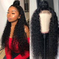 Beautyforever Jerry Curly 13x6 Transparent Lace Front Wigs Pre-plucked Human Hair Wig 150% Density