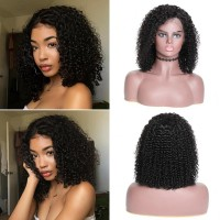 Beautyforever Jerry Curly Human Hair Bob Wigs 13x4 Lace Front Wig 130% Density Hair
