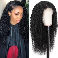 Beautyforever Realistic 13x6 Lace Front Long Jerry Curly 150% Density Human Hair Wigs On Sale