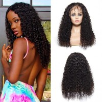 Beautyforever Realistic Jerry Curly Human Hair Lace Front Wig With Baby Hair 10-24Inch