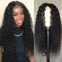 Beautyforever Realistic Jerry Curly Human Hair Lace Front Wig With Baby Hair Natural Color 10-24Inch