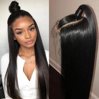 Beautyforever Straight Wave Pre-plucked 13x6 Lace Front Wigs Transparent Lace Human Hair 150% Density