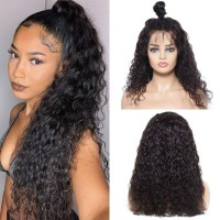 Beautyforever Water Wave Natural Hairline Lace Front Wigs With Baby Hair 100% Human Hair