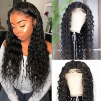 Beautyforever Water Wave Natural Hairline 13x4 Lace Front Wigs With Baby Hair 100% Virgin Human Hair