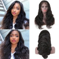 Beautyforever 180% Density Pre-plucked Body Wave Hair 360 Lace Frontal Wig Human Hair