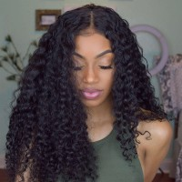 Beautyforever Lace Front Long Jerry Curly 150% Density Human Hair Wigs On Sale