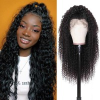 Beautyforever Pre-plucked Natural Hairline Jerry Curly 13x6 Transparent Lace Front Wigs 180% Density