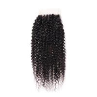 Beautyforever 1PC Kinky Curly Hair 4x4 Lace Closure Sew In Best Virgin Hair