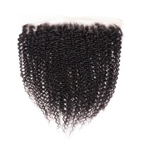 Beautyforever 13x4 Kinky Curly Lace Frontal 1PC Sew In Virgin Hair