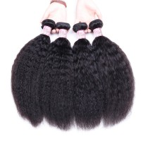 Beautyforever Indian Afro Kinky Straight Hair 4 Bundles Sew In Virgin Hair Extensions