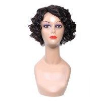 Beautyforever Pre-plucked Natural Side Part Short Wave Bob Wig