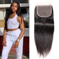 Beautyforever Peruvian 5x5 Free Part HD Lace Closure Sew In Straight Hair