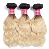 Beautyforever Body Wave Hair 3Bundles Ombre Human Hair Weave T1b/613 10-20Inch