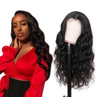Beautyforever Pre-plucked 13x6 Transparent Lace Front Human Hair Wigs Body Wave 180% Density
