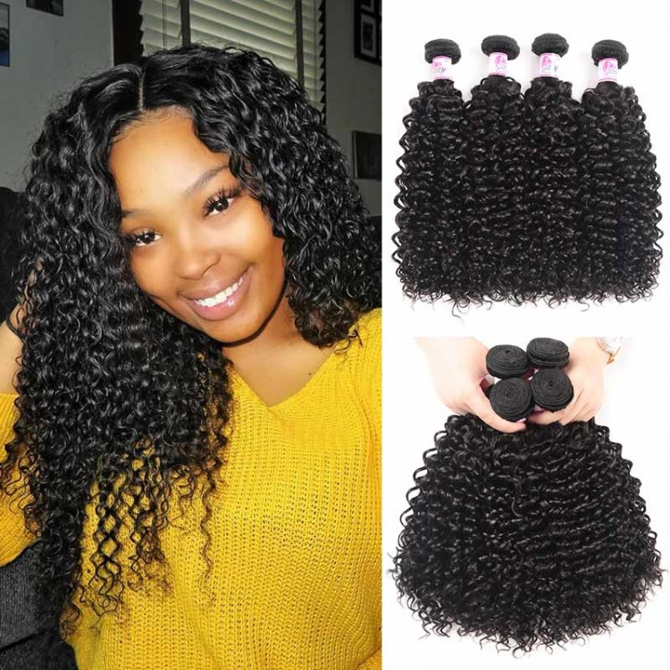 Beautyforever Malaysian Virgin Hair African American Jerry Curly Weave 4bundles