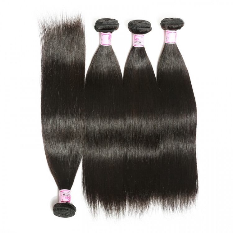 Beautyforever Remy Indian Hair Weave Straight 4bundles Wet And Wavy