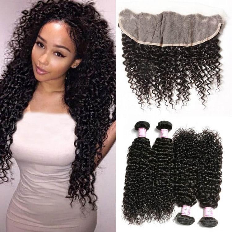 7A Malaysian Human Virgin Curly Hair