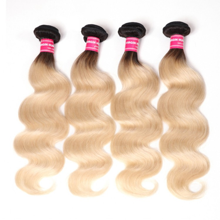 Beautyforever T1b613 Hair Color Body Wave 4bundles Ombre Human Hair