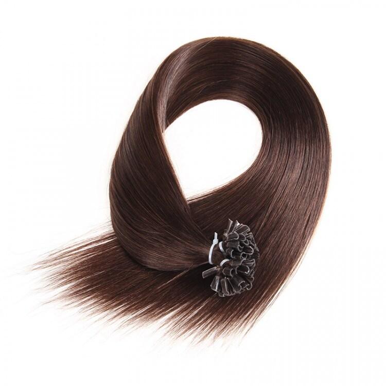 Beautyforever Dark Brown 2 Remy Human Hair U Tip Hair Extensions