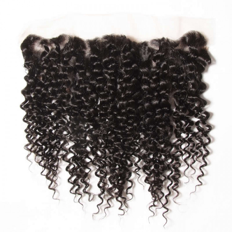Curly lace frontal closure