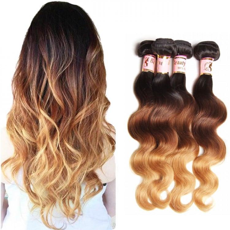 Beautyforever 16 26 100 Virgin Peruvian Ombre Body Wave Hair 3bundles