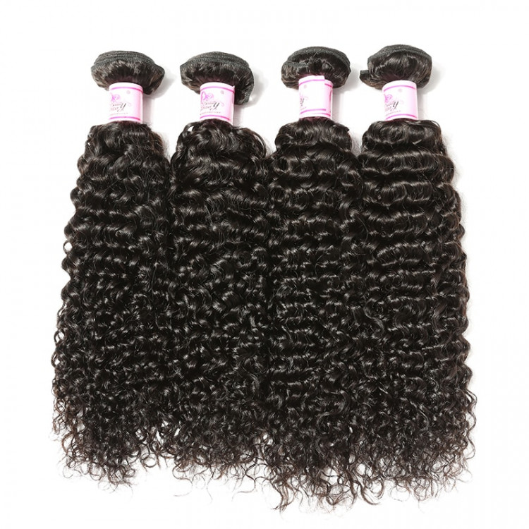 4 Bundles 7A Malaysian Human Virgin Curly Hair
