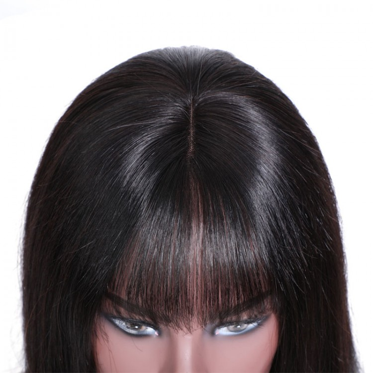 Lace Front Wigs With Bangs Human Hair Bob Wigs
