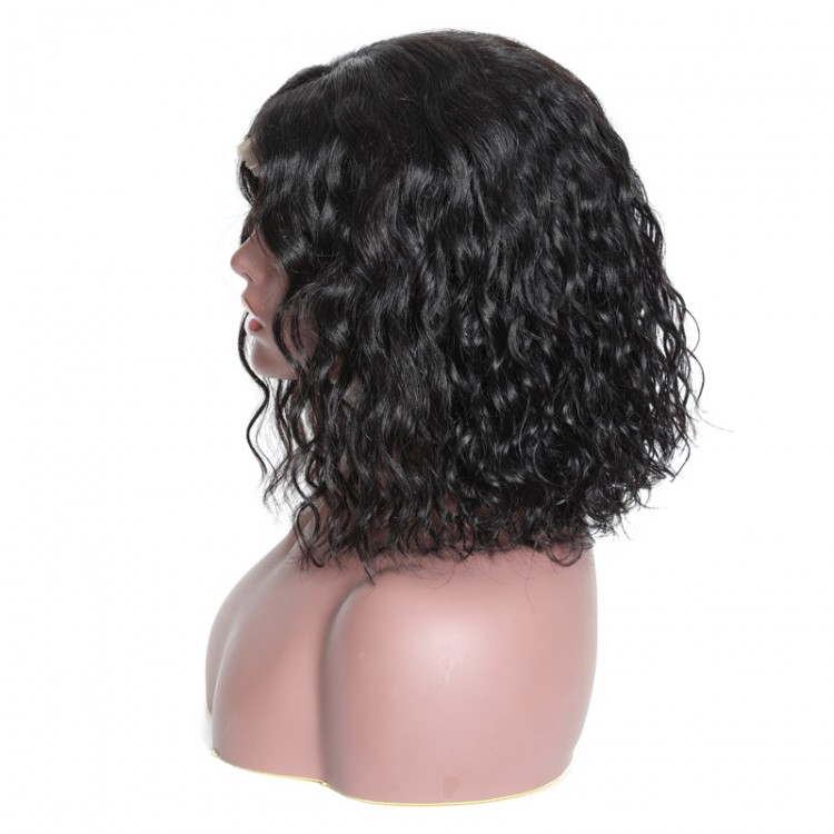 Bob Water Wave 13x4 Human Hair Lace Front Wigs