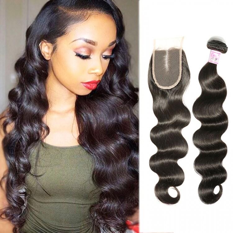 Brazilian Hair Bundles with Lace Closure