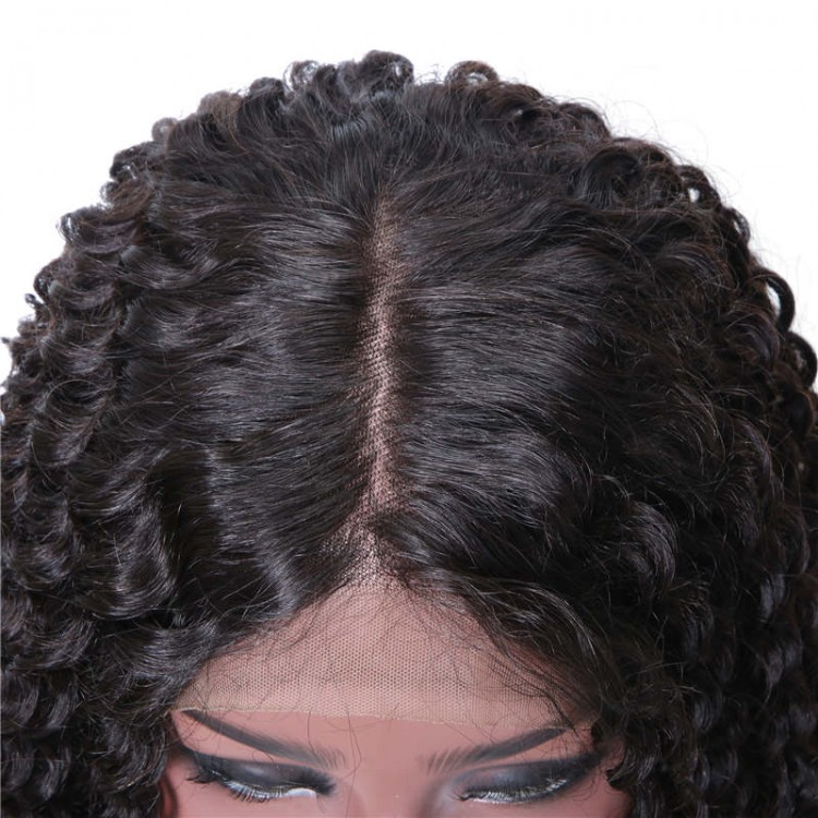 Pre-Plucked Long Jerry Curly 360 Lace Wig