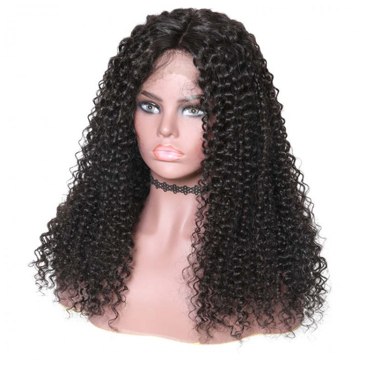 New Arrived Long Lace Front Jerry Curly Human Hair Wigs