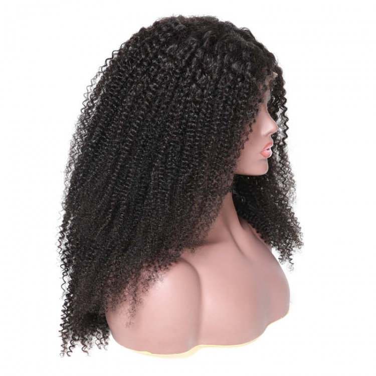 360 Lace Frontal Kinky Curly 180% Density Human Hair Wigs