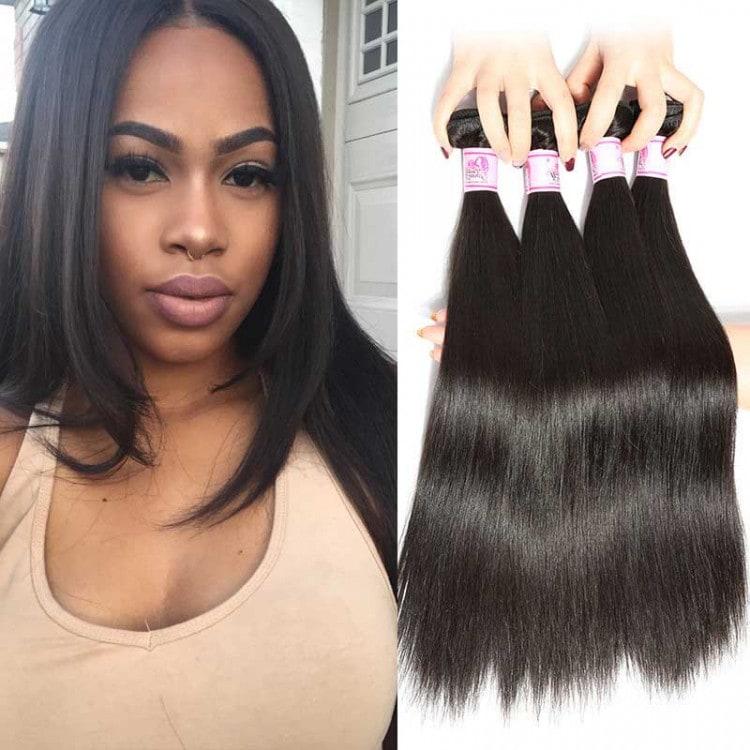 Beautyforever 7a Virgin Peruvian Straight Hair Remy Human Hair Weave