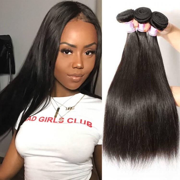 Virgin Malaysian Hair 3bundles Beautyforver Straight Hair Weave Remy