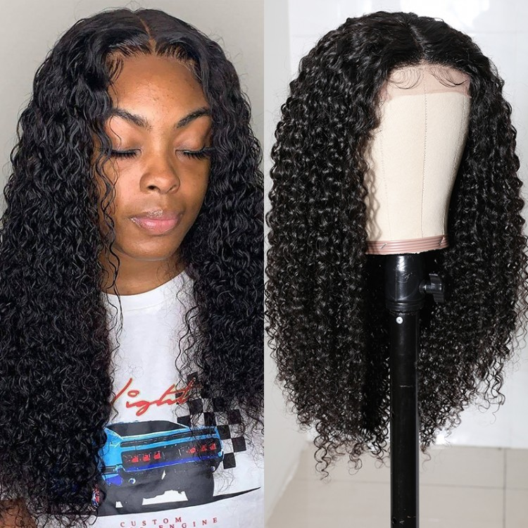Beautyforever Jerry Curly Hair Lace Part Wig Natural Color Virgin Human Hair 150 Density