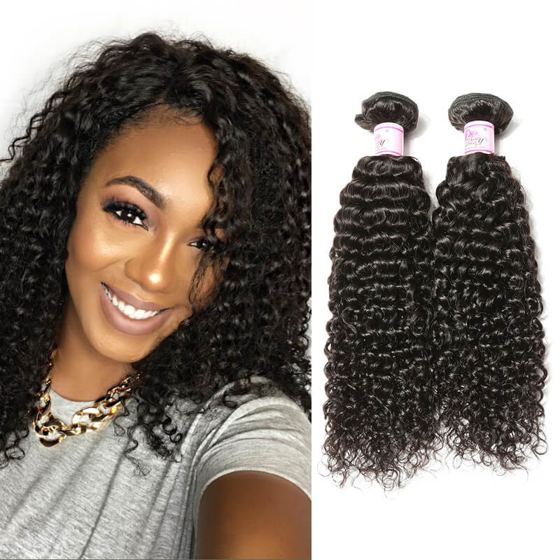 Beautyforever Premium Brazilian Curly Hair Weaves 4bundles Deals 100