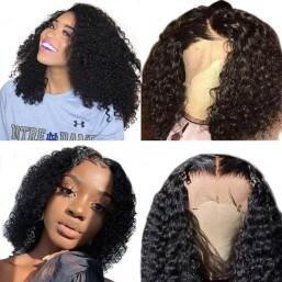 Jerry Curly Human Hair Bob Wigs