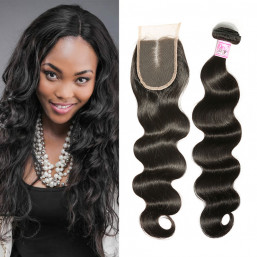 Beautyforever 3 Bundles Brazilian Body Wave Hair With Lace Closure