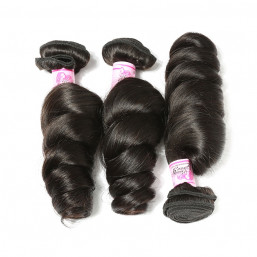 Beautyforever Indian Loose Wave 3Bundles Human Virgin Hair Weft