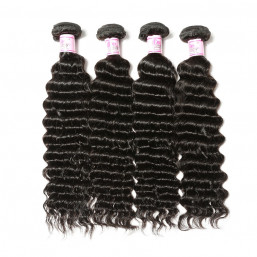 Human virgin deep wave hair