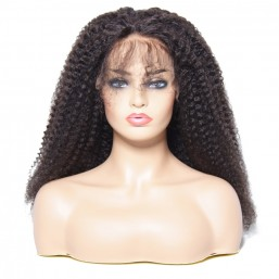 Afro Kinky Curly Human Hair Lace Front Wigs