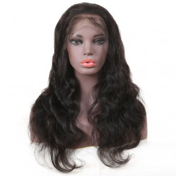 Beautyforever Pre-plucked Body Wave Lace Front Wig 100% Human Hair Natural Black