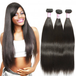 Beautyforever Brazilian Straight Hair 3 Bundles Deals Unprocessed Virgin Hair Weave