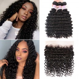 Lace Frontal Closure With 3Bundles